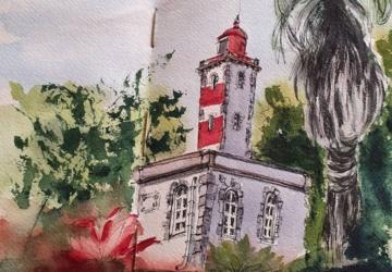 Zé Resende: a urban sketcher que se inspira nas viagens e em Oeiras