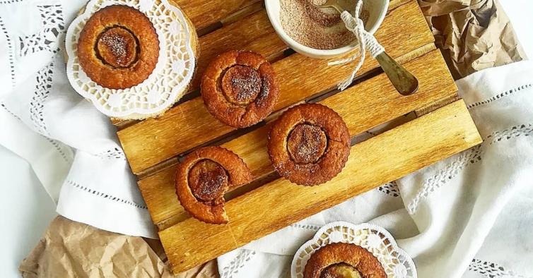 Muffins de banana e canela